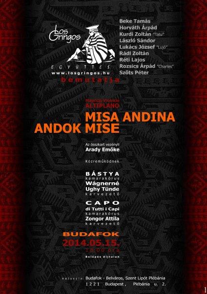 MISA ANDINA - ANDOK MISE Koncert Budafok