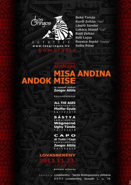 MISA ANDINA - ANDOK MISE Koncert Lovasberény
